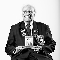Fred Harris, Army - Royal Engineers, 1942-1946, Recce Engineer, Cbt Engineer, Staff Sergeant, Normandy, Germany.  Fred is a 93 year old Normandy Veteran