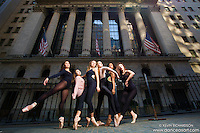 Wall Street Ballerinas Dance As Art New York Photography Project featuring Fernanada Yamaguchi, Caroline Yamada, Mallon Hallay, Mykaila Symes, Chanel DaSilva and Michel Chord