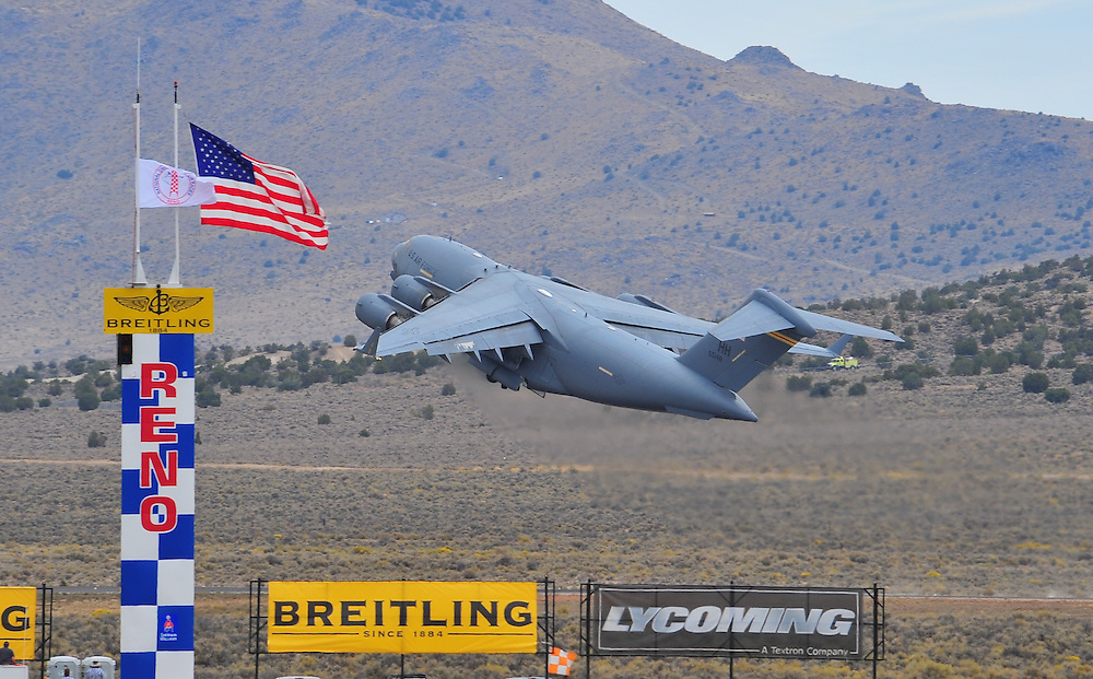 A C-17 takes off at the 2009 Reno Air Races