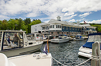 New Hampshire Dept of Safety Marine Patrol hosted an open house on Saturday morning.  (Karen Bobotas/for the Laconia Daily Sun)