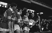 All Ireland Minor Football Final Kerry v. Westmeath 22nd September 1963 Croke Park..T. Hanlon, Capt. of the victorious Team calls for three cheers after recieving the cup from Most Rev. Dr. Morris, Archbishop of Cashel (right) ..22.09.1963  22nd September 1963