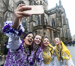 The Edinburgh Diwali celebration culminates in a procession from the City Chambers on the historic Royal Mile to the Princes Street Gardens. Celebrated throughout the world by Hindus, Seikhs and Jains, the Festival of Light symbolises the victory of good over evil. People celebrate Diwali through distributing sweets, gifts and thanks giving to each other.<br /> <br /> Pictured: Edinburgh Banghra Crew
