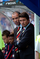 Photo: Jed Wee.<br />Glasgow Rangers v Middlesbrough. Pre Season Friendly. 22/07/2006.<br /><br />Rangers' new manager Paul Le Guen (L) with assistant Yves Colleu.