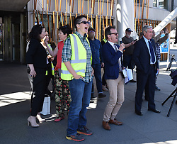 EIS FELA members continue their strike action with a lobby outside of the Scottish Parliament over a cost of living pay rise. College Lecturers Strike Day Lobby of Parliament, The Scottish Parliament, Edinburgh,  Angie Isac | EEm Thursday 16 May 2019