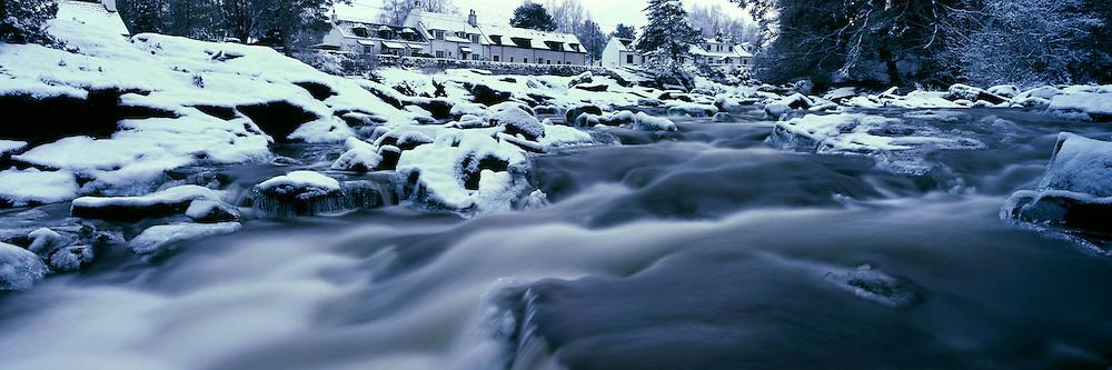 Falls of Dochart in Winter - Killin, central Highlands of Scotland