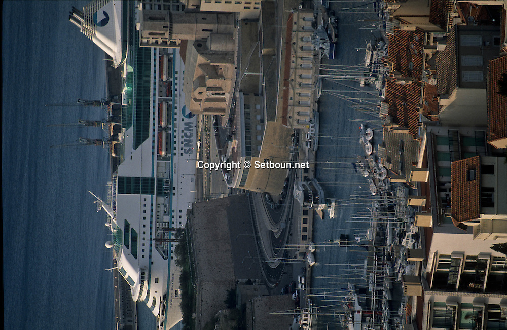 = port, the major cathedral   view from Notre dame de la garde church ///port autonome,  la Major cathedrale ,  vue depuis  Notre dame de la garde Marseille  France +