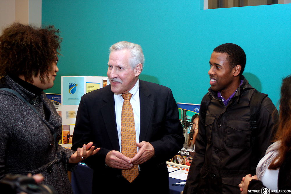 Lawrence, MA, 02/03/2016 Dr. Carlos Santiago, the Massachusetts commissioner of Higher Education, during his visit to Northern Essex Community College, Lawrence.<br /> <br /> The Commissioner met with faculty, staff, students, and members of the community .