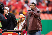 KANSAS CITY, MO - DECEMBER 14:   Former player Willie Roaf #77 of the Kansas City Chiefs is honored at halftime during a game against the San Diego Chargers on December 14, 2008 in Kansas City, Missouri.  The Chargers defeated the Chiefs 22-21.  (Photo by Wesley Hitt/Getty Images) *** Local Caption *** Willie Roaf