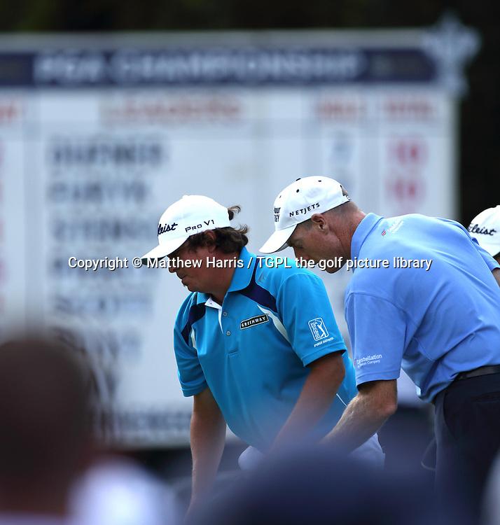 Jason DUFNER (USA) and Jim FURYK (USA) during fourth round US PGA Championship 2013,Oak Hill CC,
