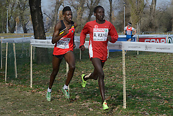 08-12-2013 ATHLETICS: SPAR EC CROSS COUNTRY: BELGRADE<br /> Junior men 6 km / (L-R) Isaac Kimeli BEL en winnaar Ali Katya TUR<br /> ©2013-WWW.FOTOHOOGENDOORN.NL