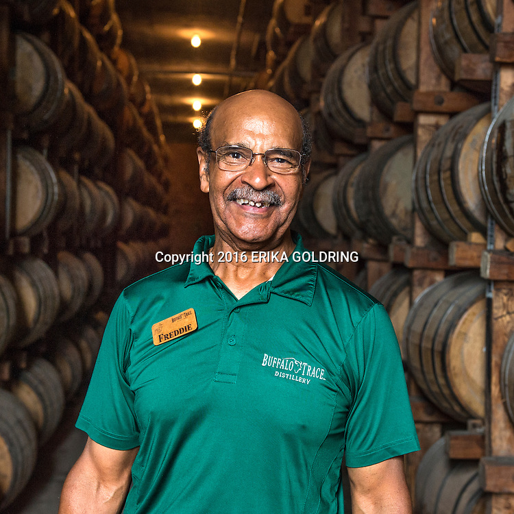 Freddie Johnson poses for a photo at Buffalo trace Distillery in Frankfort, KY,