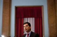 Vitor Gaspar, portuguese Ministry of Finances.<br /> The president of China Three Gorges electric company, Cao Guangjing; the chairman of the board of Parp&uacute;blica, Joaquim Reis, and Ant&oacute;nio Mexia, chairman of the Board of EDP signed an agreement that gives the first formal step for the acquisition of a state share of 21.35% in the EDP, the portuguese electric company.