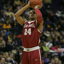 Jan 09, 2010; Baton Rouge, LA, USA; Alabama Crimson Tide guard Charvez Davis (24) shoots against the LSU Tigers during the second half at the Pete Maravich Assembly Center. Alabama defeated LSU 66-49.  Mandatory Credit: Derick E. Hingle-US PRESSWIRE