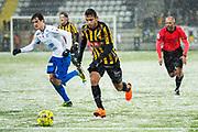 G&Ouml;TEBORG - 2018-02-18: Daleho Irandust i BK H&auml;cken springer med bollen under matchen i Svenska Cupen, grupp 4, mellan BK H&auml;cken och IFK V&auml;rnamo den 18 februari 2018 p&aring; Bravida Arena i G&ouml;teborg, Sverige.<br /> Foto: Anders Ylander/Ombrello<br /> ***BETALBILD***