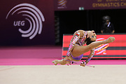 Katsyarina Halkina, Belarus, during the 33rd European Rhythmic Gymnastics Championships at Papp Laszlo Budapest Sports Arena, Budapest, Hungary on 20 May 2017. The Belarus team won the silver medal. Photo by Myriam Cawston.