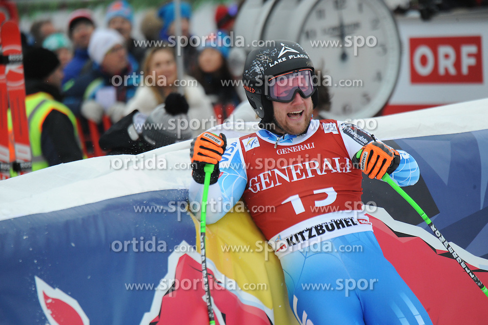 23.01.2015, Streif, Kitzbuehel, AUT, FIS Ski Weltcup, Supercombi Super G, Herren, im Bild Andrew Weibrecht (USA) // Andrew Weibrecht of the USA reacts after his run of the men's Super Combined Super-G of Kitzbuehel FIS Ski Alpine World Cup at the Streif Course in Kitzbuehel, Austria on 2015/01/23. EXPA Pictures © 2015, PhotoCredit: EXPA/ Erich Spiess