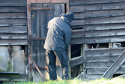 © under license to London News Pictures. 26.11.2010 Police search fields and outhouses for a young boy believed to have gone missing in the Kent village of Vigo. The boy believed to be aged between 5-6 years old was wearing a spiderman's outfit or pajamas.  A member of the public spotted him at 1.30 am .  Nobody has reported a child missing in the area. Picture credit should read Grant Falvey/London News Pictures