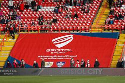 Bristol Sport branding inside the ground before the match - Photo mandatory by-line: Rogan Thomson/JMP - 07966 386802 - 25/01/2015 - SPORT - FOOTBALL - Bristol, England - Ashton Gate Stadium - Bristol City v West Ham United - FA Cup Fourth Round Proper.