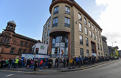 Pictured: long queues developed as delegates waited to go into the conference.<br /> <br /> The SNP held their spring conference at the EICC in Edinburgh, where independence and brevet were high on the agenda.<br /> <br /> © Dave Johnston / EEm