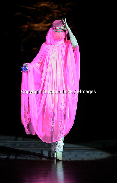 Lady Gaga opens the Philip Treacy show  at London Fashion Week for Spring/Summer 2013, Saturday, 15th September 2012 Photo by: Stephen Lock / i-Images