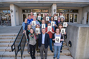 Alden Library, staff, group photo, Happy Birthday