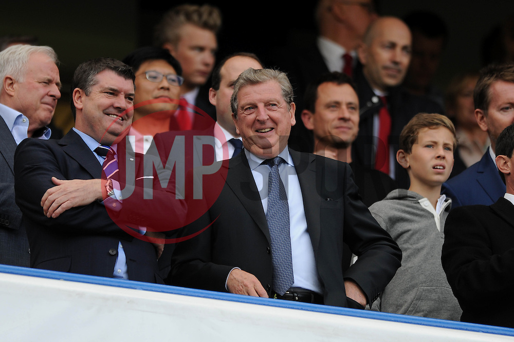 England manager, Roy Hodgson in attendance at Stamford Bridge  - Photo mandatory by-line: Dougie Allward/JMP - Mobile: 07966 386802 - 04/10/2014 - SPORT - Football - London - Stamford Bridge - Chelsea v Arsenal - Barclays Premier League
