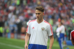 June 14, 2018 - Moscow, Russia - Russian Federation. Moscow. The Luzhniki Stadium. Match Opening of the World Cup 2018. Russia - Saudi Arabia. Solemn opening ceremony of the FIFA World Cup 2018. FIFA World Cup 2018. Player of the Russian national football team (in red)..Anton Miranchuk. (Credit Image: © Russian Look via ZUMA Wire)
