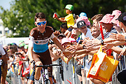 Romain Bardet (FRA - AG2R - La Mondiale) Fans during the 105th Tour de France 2018, Stage 6, Brest - Mur de Bretagne Guerledan (181km) in France on July 12th, 2018 - Photo Luca Bettini / BettiniPhoto / ProSportsImages / DPPI
