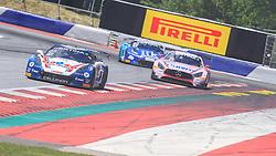 10.06.2017, Red Bull Ring, Spielberg, AUT, ADAC GT Masters, Spielberg, 1. Rennen, im Bild v.l.: Jules Gounon (FRA)/Daniel Keilwitz (GER) Callaway Competition, Sebastian Asch (GER)/ Lucas Auer (AUT) BWT Muecke Motorsport, Sven Barth (GER)/Maximilian Hacklaender (GER) RWT Racing // f.l.: French ADAC GT Masters driver Jules Gounon/German ADAC GT Masters driver Daniel Keilwitz of Callaway Competition German ADAC GT Masters driver Sebastian Asch/Austrian ADAC GT Masters driver Lucas Auer of BWT Muecke Motorsport German ADAC GT Masters driver Sven Barth/German ADAC GT Masters driver Maximilian Hacklaender of RWT Racing during the 1st race of the ADAC GT Masters at the Red Bull Ring in Spielberg, Austria on 2017/06/10. EXPA Pictures © 2017, PhotoCredit: EXPA/ Dominik Angerer