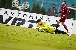Janus Strukelj of ND Gorica during football match between NK Triglav Kranj and ND Gorica in Round #24 of Prva Liga Telekom Slovenije 2017/18, on March 18, 2018 in Sportni park Kranj, Kranj, Slovenia. Photo by Ziga Zupan / Sportida