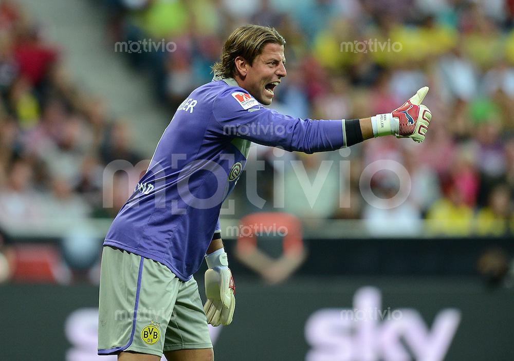 FUSSBALL   1. BUNDESLIGA   SAISON 2012/2013   SUPERCUP FC Bayern Muenchen - Borussia Dortmund            12.08.2012 Torwart Roman Weidenfeller (Borussia Dortmund)
