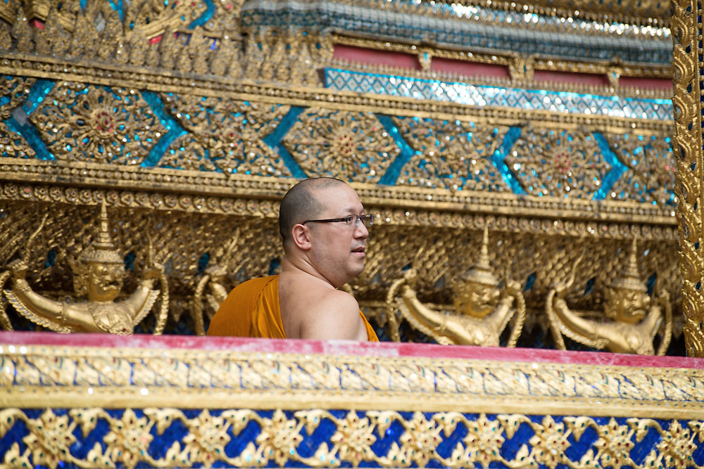 A Buddhist Thai Monk at Wat Phra Kaew - Emerald Buddha Temple