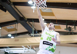 Mitja Nikolic of Slovenia during friendly basketball match between National teams of Slovenia and Ukraine at day 3 of Adecco Cup 2014, on July 26, 2014 in Rogaska Slatina, Slovenia. Photo by Vid Ponikvar / Sportida.com