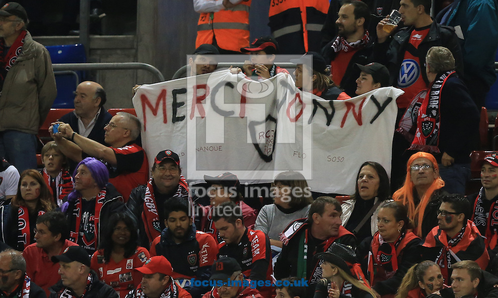 Toulon fans says thats to Jonny Wilkinson of RC Toulon during the Heineken Cup Final at the Millennium Stadium, Cardiff<br /> Picture by Michael Whitefoot/Focus Images Ltd 07969 898192<br /> 24/05/2014