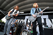Hell or Highwater performing at the First Niagara Pavilion in Burgettstown, PA on the 2011 Uproar Tour on September 16, 2011