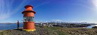 Panorama of Stykkishólmur lighthouse on the Snæfellsnes peninsula, Iceland