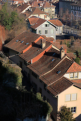 SWITZERLAND BERN 1MAR12 - Rooftops at Bern Matte next to the Aare river, Switzerland.....jre/Photo by Jiri Rezac....© Jiri Rezac 2012