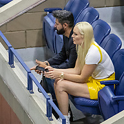 2019 US Open Tennis Tournament- Day Twelve. Danill Skier Lindsey Vonn watching the tennis on Arthur Ashe Stadium during the 2019 US Open Tennis Tournament at the USTA Billie Jean King National Tennis Center on September 6th, 2019 in Flushing, Queens, New York City.  (Photo by Tim Clayton/Corbis via Getty Images)