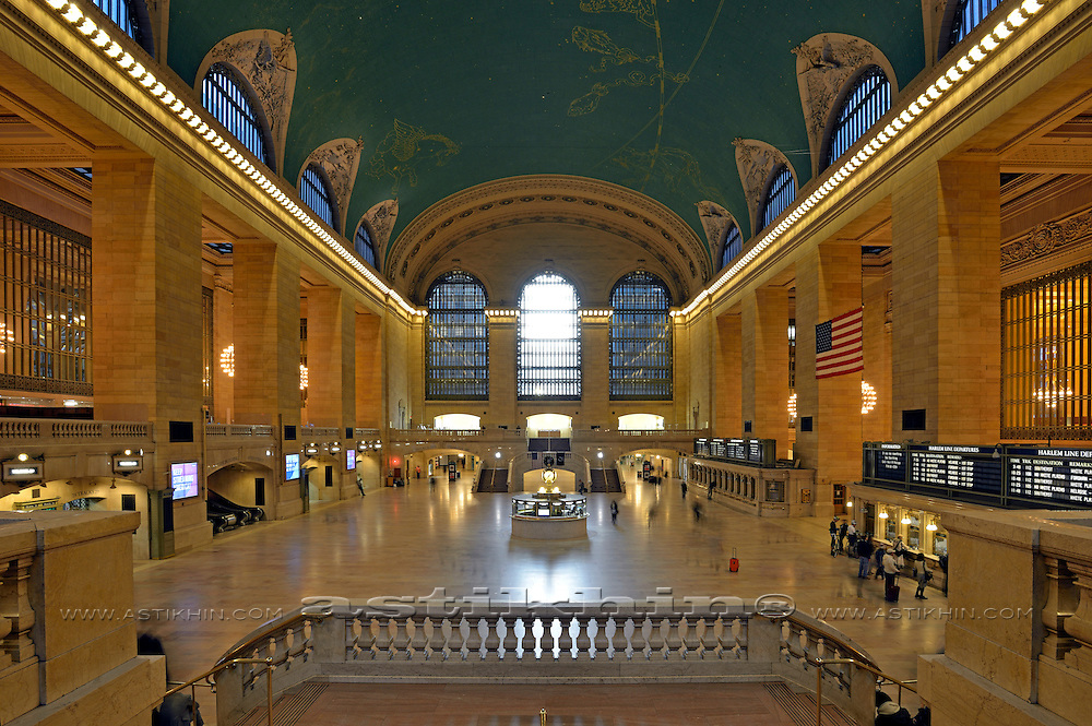 Interior view of Grand Central Station, New York City.