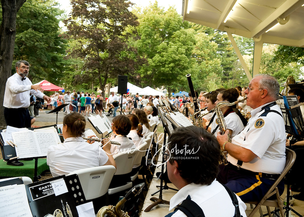National Night Out at Rollins Park in Concord, NH.  (Karen Bobotas  for the Concord Monitor)