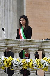 Rome Visit of Pope Francis in the Capitol with Virginia Raggi