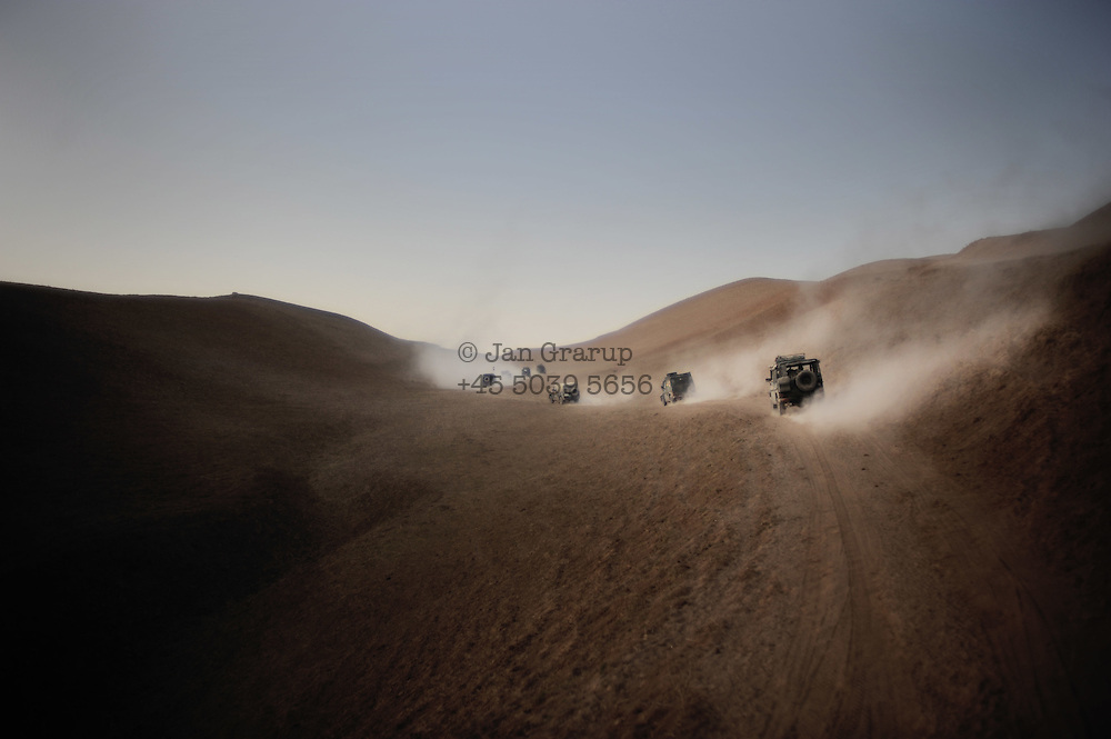A german ISAF mountain/desert patrol 50 km outside Faizabad.<br /> <br /> For more caption info, please contact photographer.
