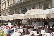A cafe in the Piazza della Republica<br /> Florence, Italy