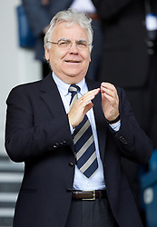 LIVERPOOL, ENGLAND - Saturday, October 1, 2011: Everton's chairman and owner Bill Kenwright before the Premiership match against Liverpool at Goodison Park. (Pic by Vegard Grott/Propaganda)