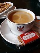Café con leche at the Hotel Alhambra Palace, Granada, Spain.