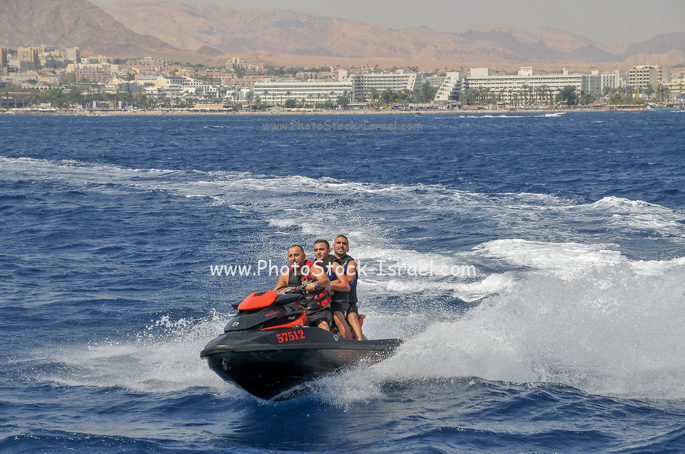 People on a Jet Ski, Eilat, Israel