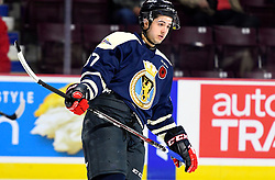Jeremy Bracco of the Windsor Spitfires in the opening game of the 2017 MasterCard Memorial Cup against the Saint John Sea Dogs at the WFCU Centre in Windsor, ON on Friday May 19, 2017. Photo by Aaron Bell/CHL Images