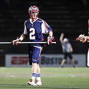 Scott Ratliff #2 of the Boston Cannons is seen during the game at Harvard Stadium on May 10, 2014 in Boston, Massachusetts. (Photo by Elan Kawesch)