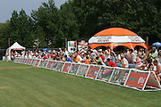 BEREA, OH - AUGUST 3:  Cleveland Browns fans try to beat the heat during training camp at the Cleveland Browns Training and Administrative Complex on August 3, 2006 in Berea, Ohio. ©Paul Anthony Spinelli