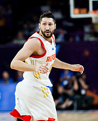 Nikita Kurbanov of Russia during basketball match between National Teams of Russia and Serbia at Day 16 in Semifinal of the FIBA EuroBasket 2017 at Sinan Erdem Dome in Istanbul, Turkey on September 15, 2017. Photo by Vid Ponikvar / Sportida